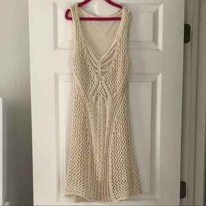 Cute crochet short dress